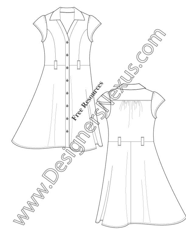 612x792 Free Fashion Downloads Illustrator Dress Flat Sketches
