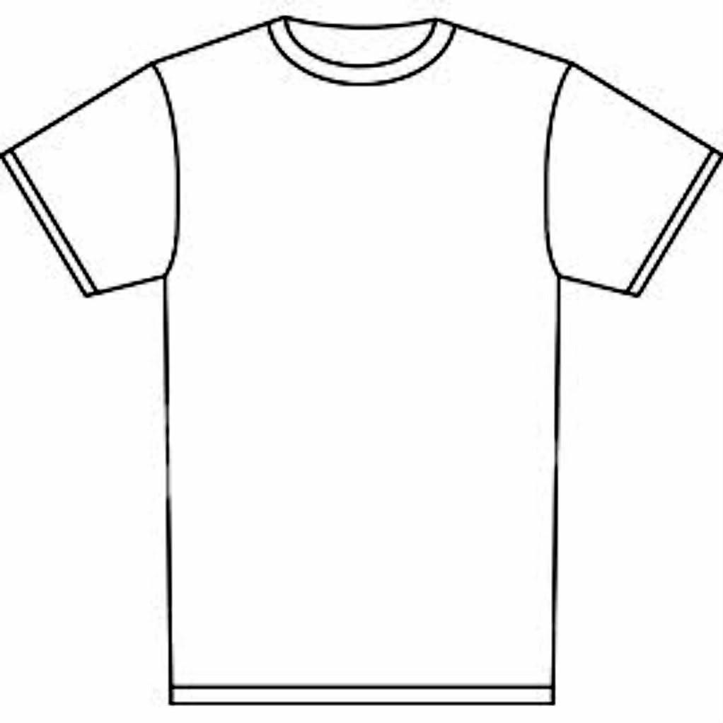 1022x1022 Printable T Shirt Template Experimental Concept Outline Clipart