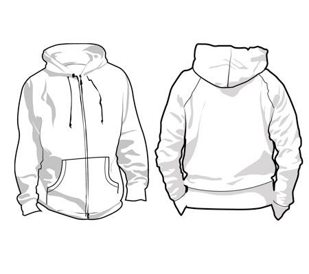 450x400 Sweatshirt Design Template