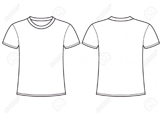 Line Drawing Shirt : Shirt drawing template at getdrawings free for