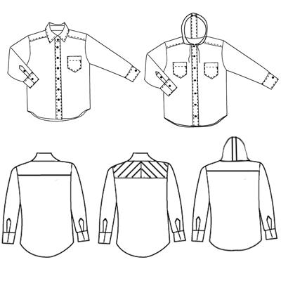 menswear technical drawing