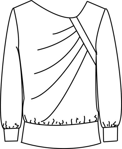 392x480 Asymmetrical Pleated Pull Over Sure Fit Designs