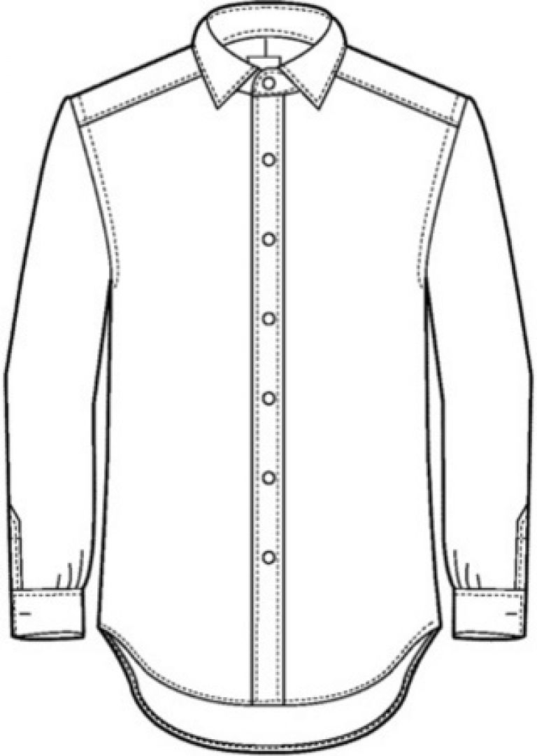 768x1080 Drawing Of A Shirt Outline Of A Shirt Collection