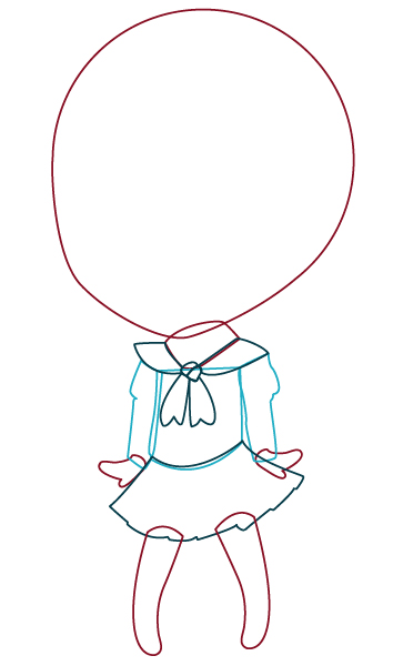 354x600 How To Draw And Vector A Kawaii Vampire Chibi In Illustrator