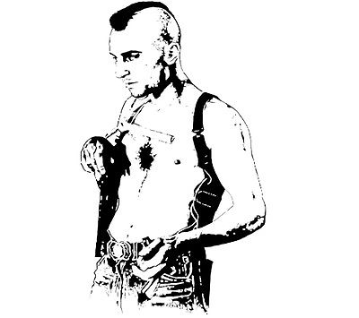 400x355 Travis Bickle Taxi Driver Sketch T Shirt In Grey Or White