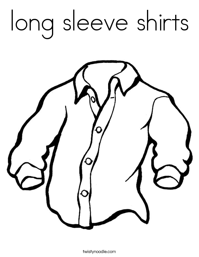 685x886 Long Sleeve Shirts Coloring Page