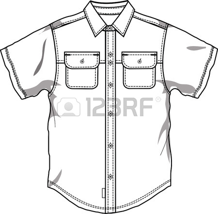 450x441 Men Button Down Shirt Royalty Free Cliparts, Vectors, And Stock