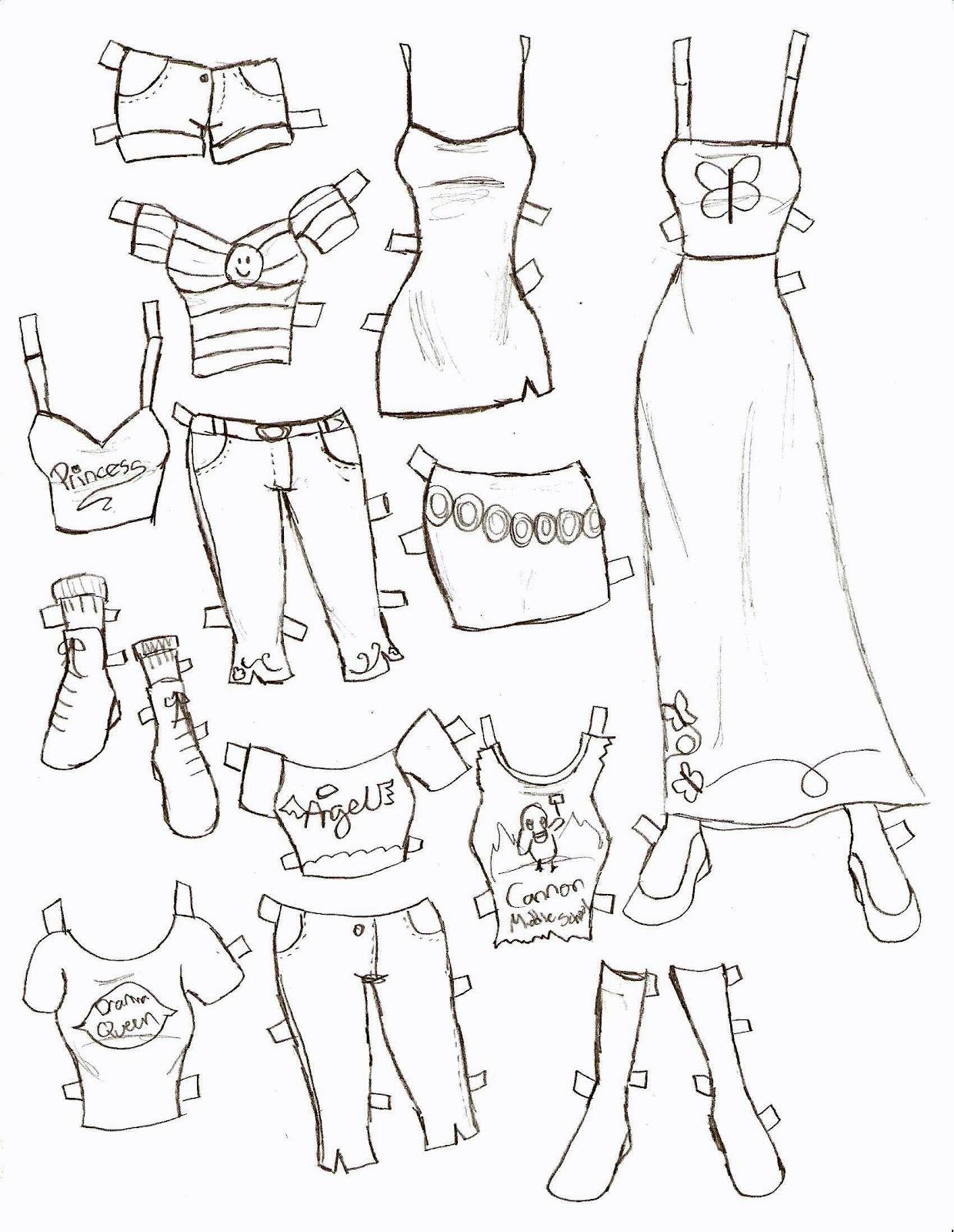 1240x1600 Miss Missy Paper Dolls Clothes Part 1