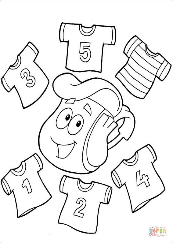 567x794 T Shirts With Numbers 1,2,3,4,5 On Them Coloring Page Free
