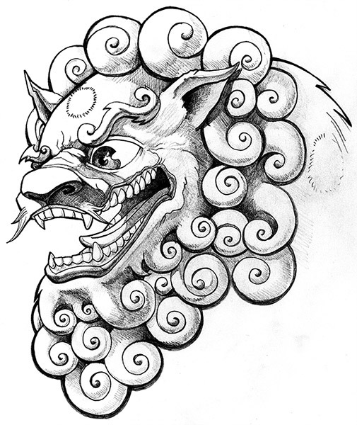 505x600 Foo Dog Olimueller By Olimueller