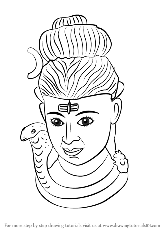 567x800 Learn How To Draw Lord Shiva Statue (Hinduism) Step By Step