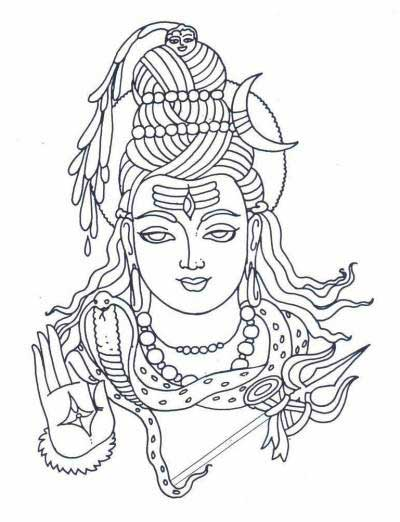 400x522 Line Art Of Lord Shiva Drawings Lord Shiva, Lord
