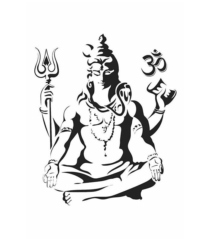 700x800 Lord Shiva Black Amp White Religious Poster