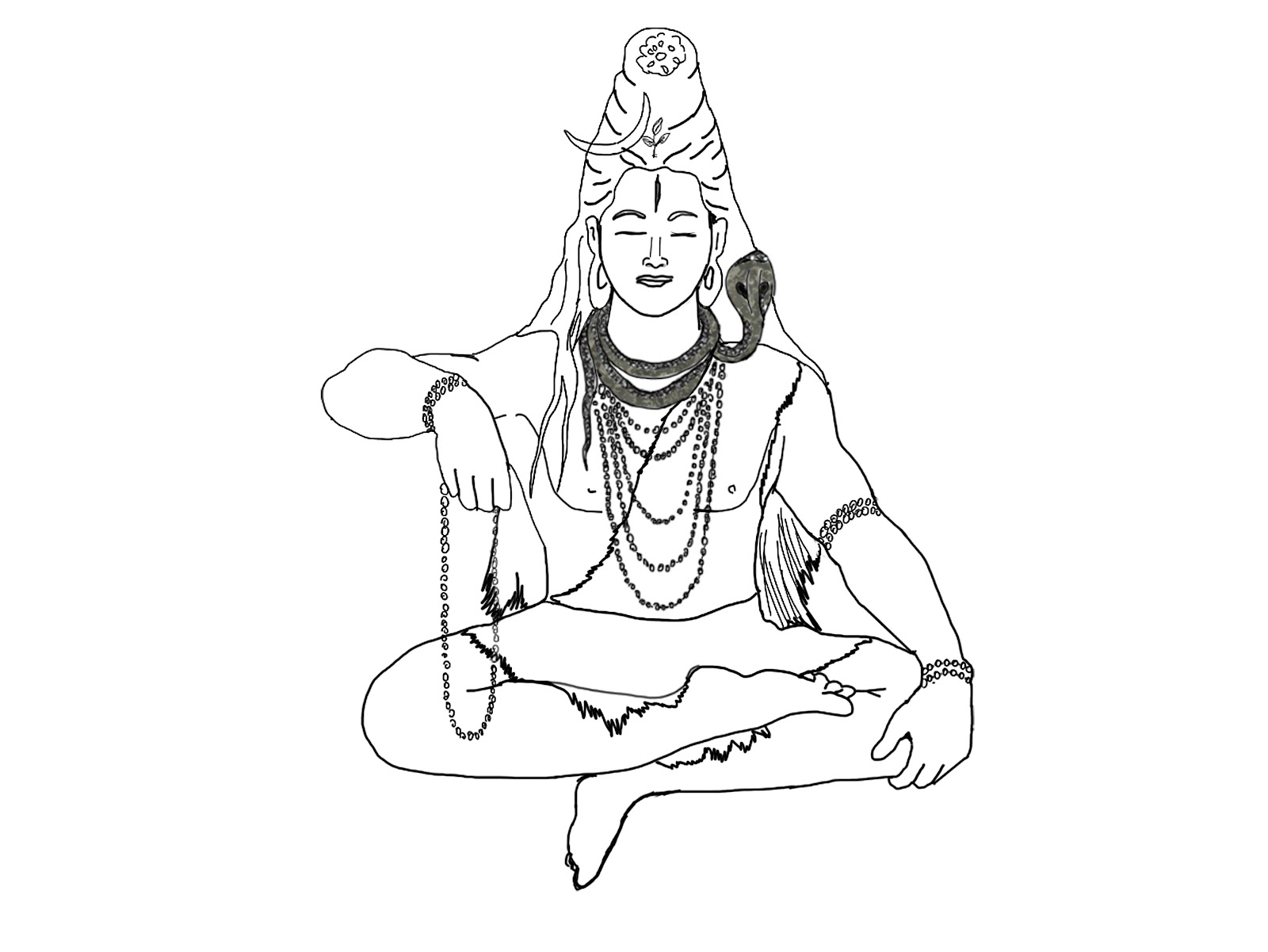 1600x1201 Lord Shiva Easy Sketches Simple Sketch Of Lord Shiva Simple