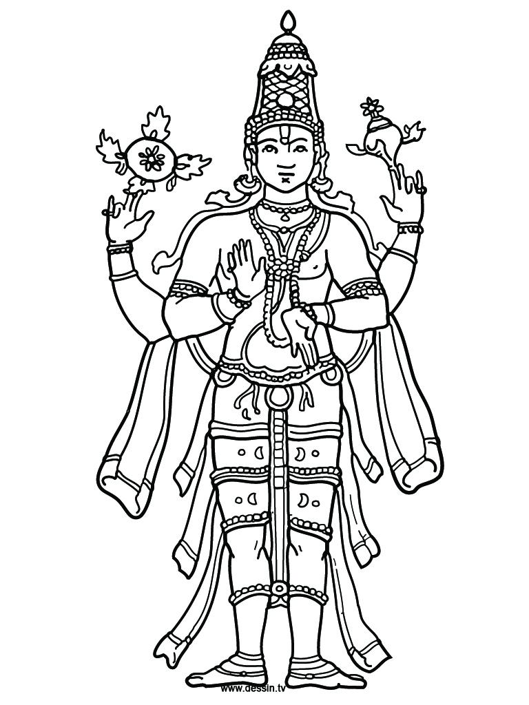 Shiva Line Drawing At GetDrawings