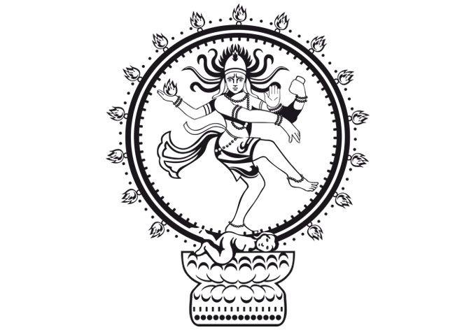 680x472 Wandtattoo Shiva Nataraja