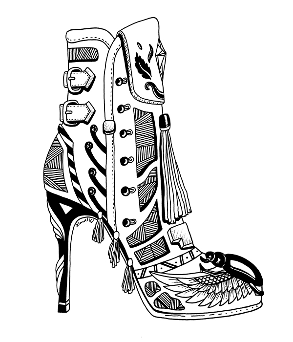 Shoe Art Drawing