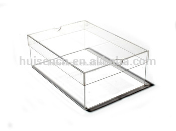 350x261 Eco Friendly High Quality Acrylic Shoe Box Plastic Display Rack