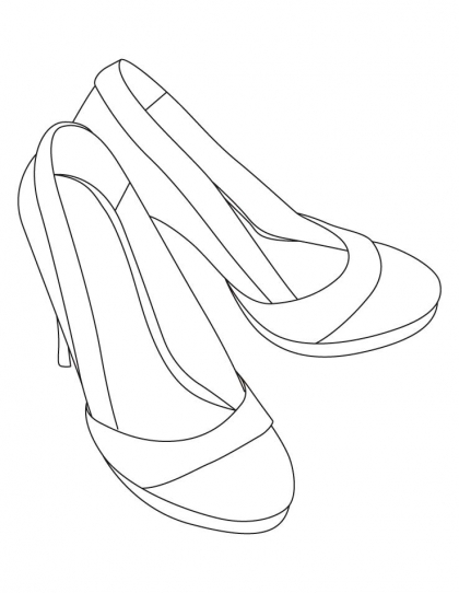 420x542 High Heel Sandals Coloring Pages Download Free High Heel Sandals