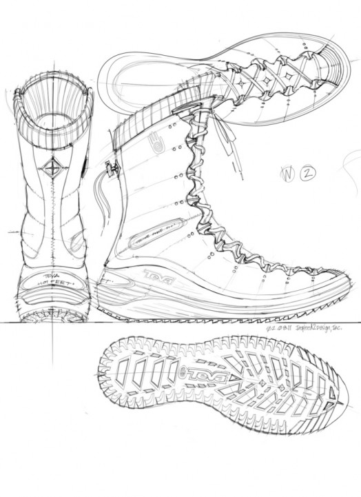 524x721 Larry Selbiger Teva Women's Lifty Sketch