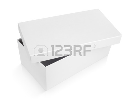 450x350 White Shoe Box Isolated On White With Clipping Path Stock Photo