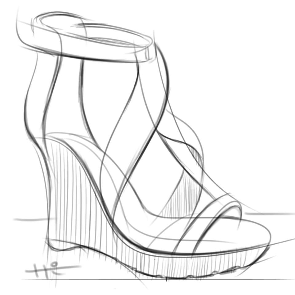 960x960 The Wedges My Shoes Sketches Wedges And Footwear
