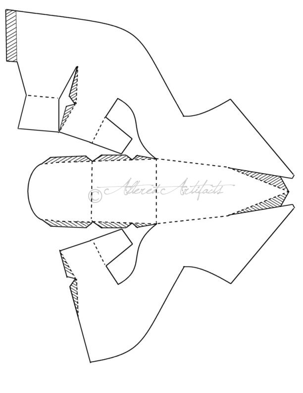 612x792 To Make Those Gorgeous Paper Shoes . Using This Pattern Tucking