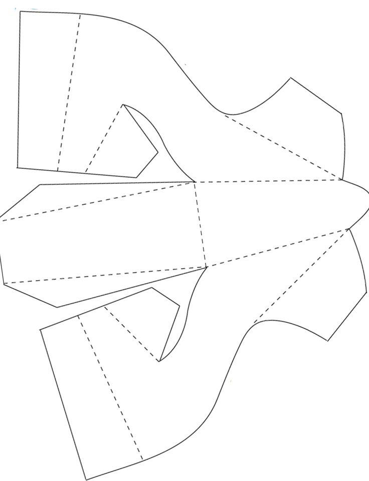 736x958 Best Shoe Template Ideas On Paper Shoes, Tie