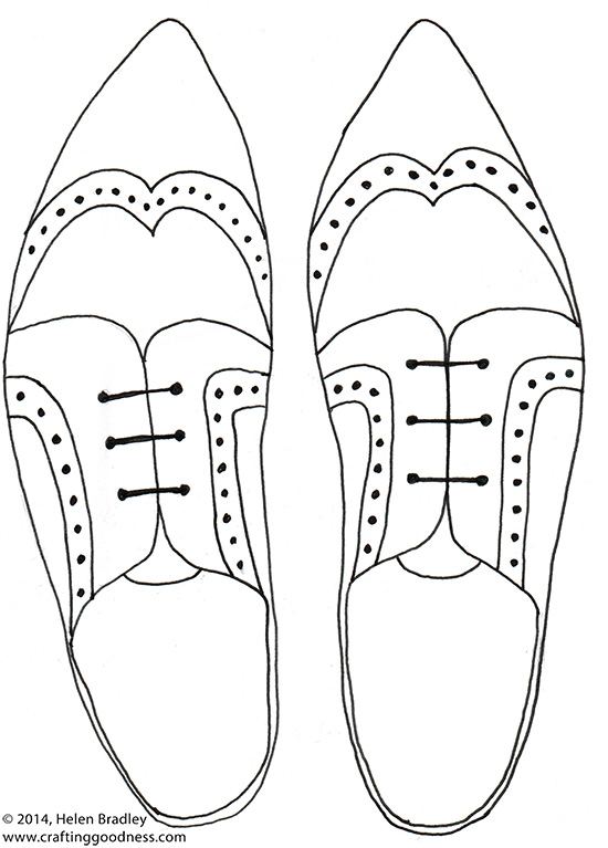550x767 Draw Mens' Shoes Step By Step Crafting Goodness