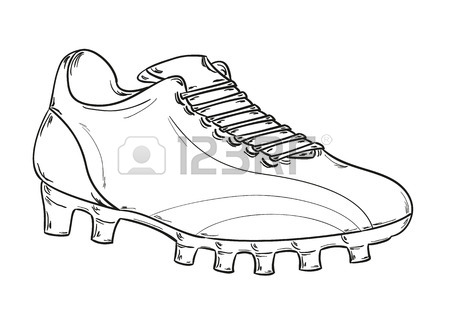 450x311 Hand Drawing Various Types Of Different Footwear. Seamless Pattern