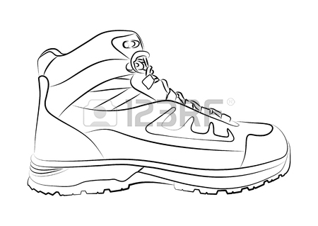 450x319 Line Drawing Of Shoes And Boots Stock Photos. Royalty Free