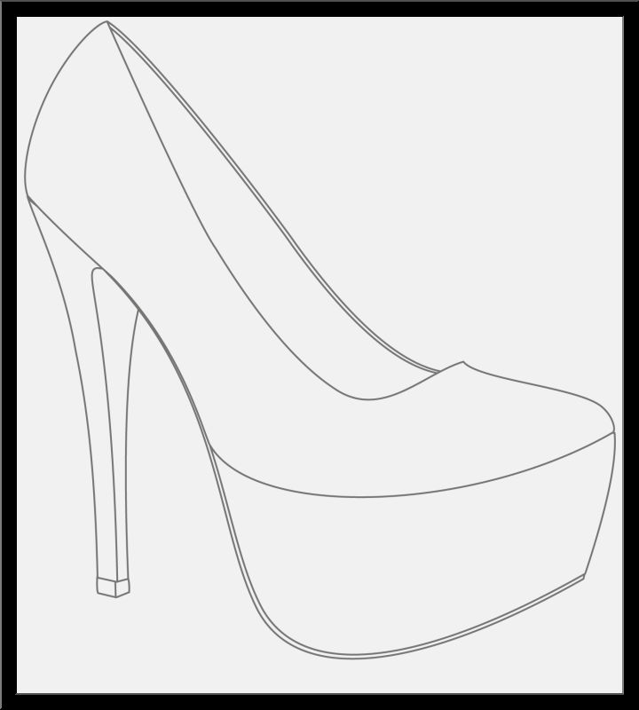 720x800 Shoe Drawing Ideas And Make You Need