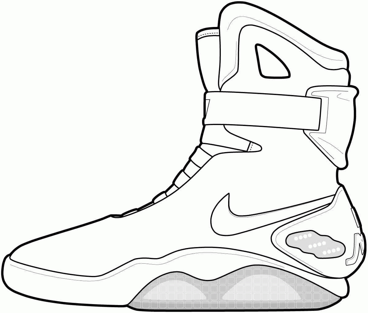 1200x1021 Basketball Shoes Drawing Jordan Shoe Coloring Pages Glum Me