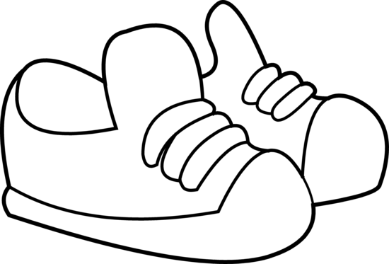 550x373 Kids Sneakers Coloring Page