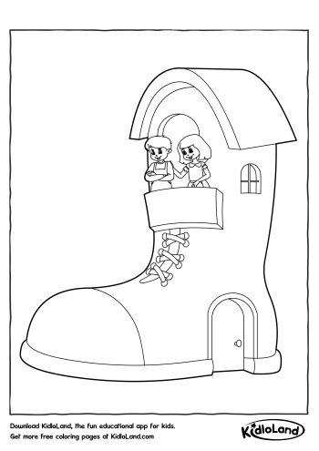 350x495 Shoe House Coloring Page Free Printables For Your Kids
