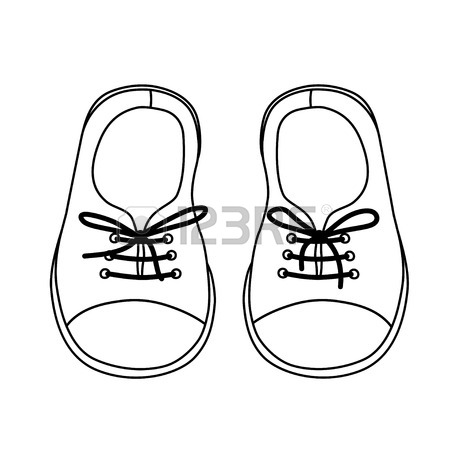 450x450 Sketch Childrens Sandals For A Boy Royalty Free Cliparts, Vectors