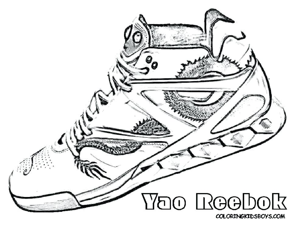 970x750 Top Shoes Coloring Pages New For Kids And Basketball With Regard
