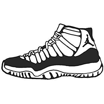 350x350 Jordan 11 Shoe Sneaker Vinyl Sticker Decal Nike Space