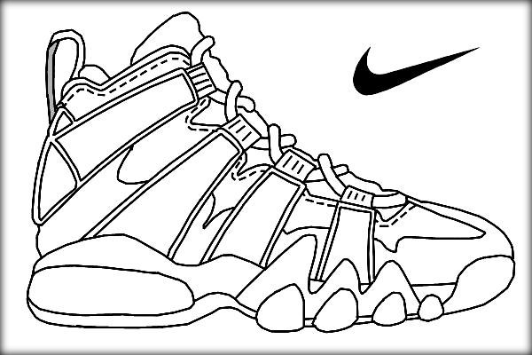 600x400 Basketball Jordan Shoe Coloring Pages Now Color Own Shoe