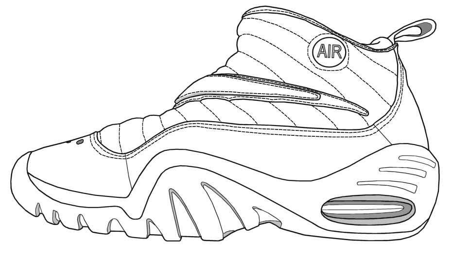 Shoe Drawing Jordans At Getdrawings Com