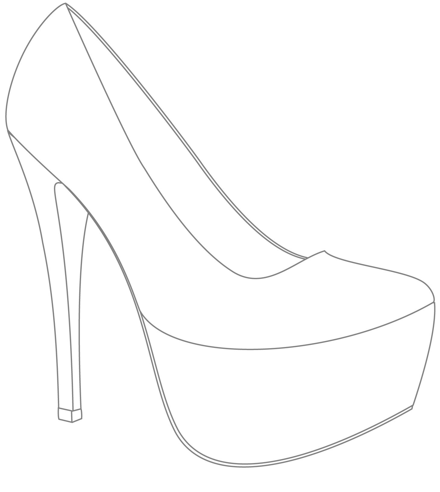 Preferred Shoe Drawing Template at GetDrawings.com | Free for personal use  MT24