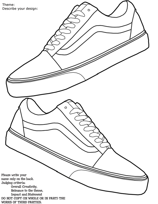 Shoe drawing template at getdrawings free for personal use 621x800 vans old skool template maxwellsz