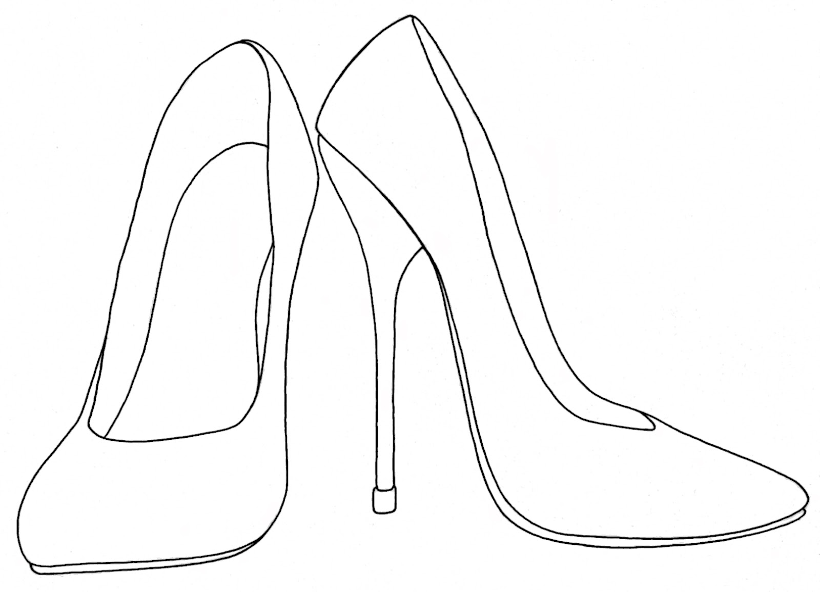 Shoe drawing template at getdrawings free for personal use 1600x1155 yucca flats nm wenchkin39s coloring pages maxwellsz