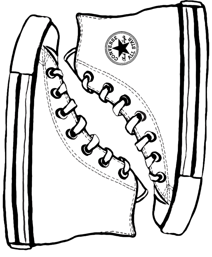 695x842 Converse Template I Was First In My World To Have Red High Tops As