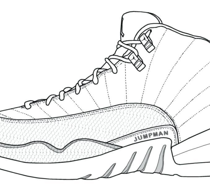 678x600 Jordan Shoe Coloring Pages Sporty Shoes Coloring Page Jordan Shoe