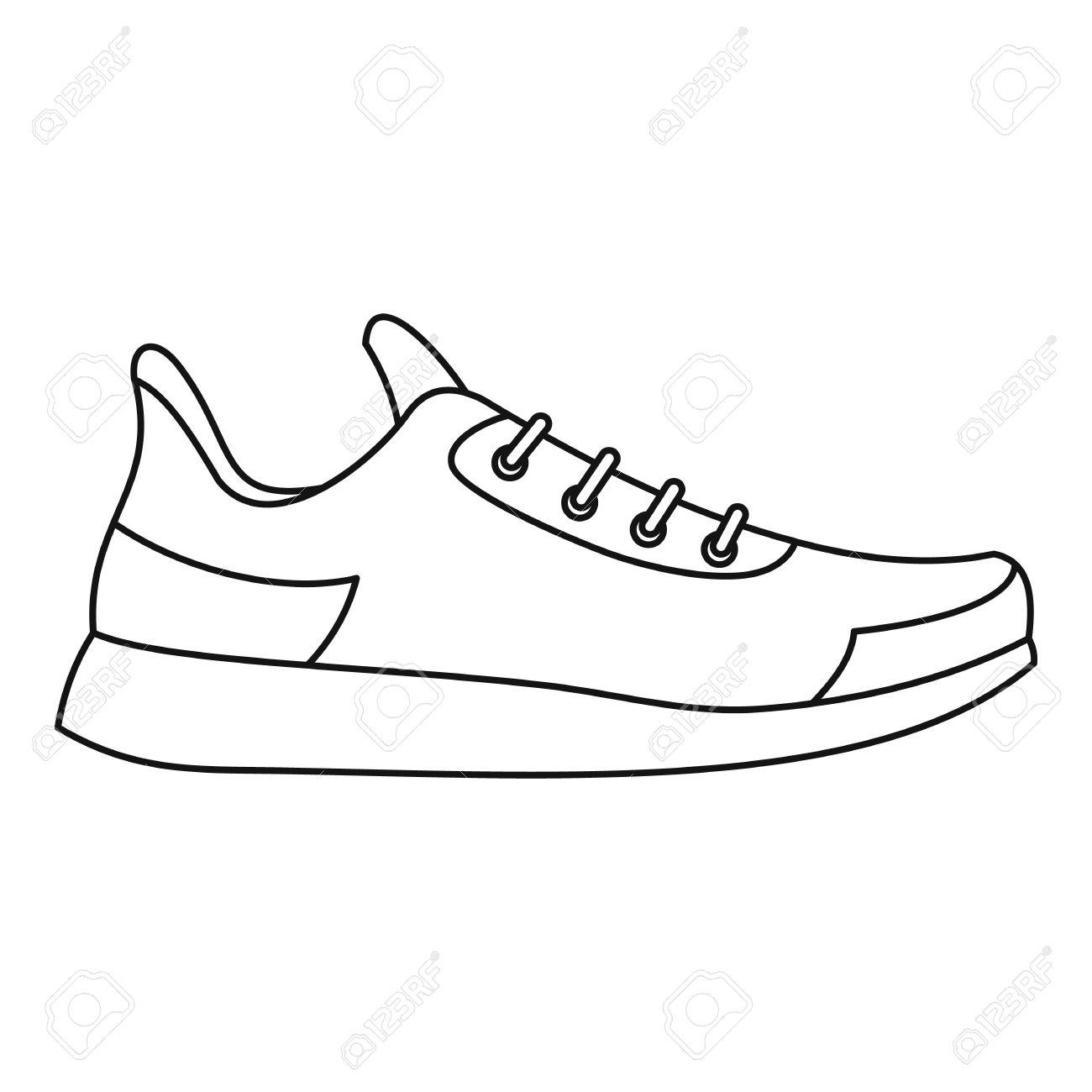 1300x1300 Athletic Shoe Icon. Outline Illustration Of Athletic Shoe Vector
