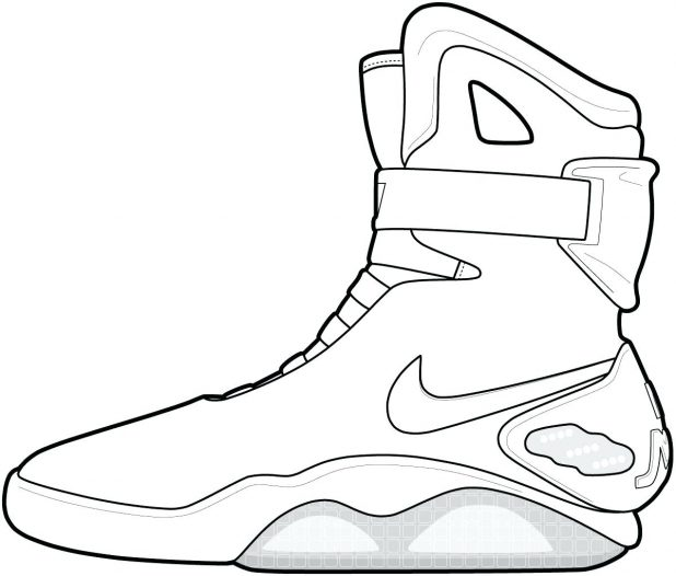 618x526 Coloring Pages Best 73 Fascinating Jordan Shoe Outline Air Jordan