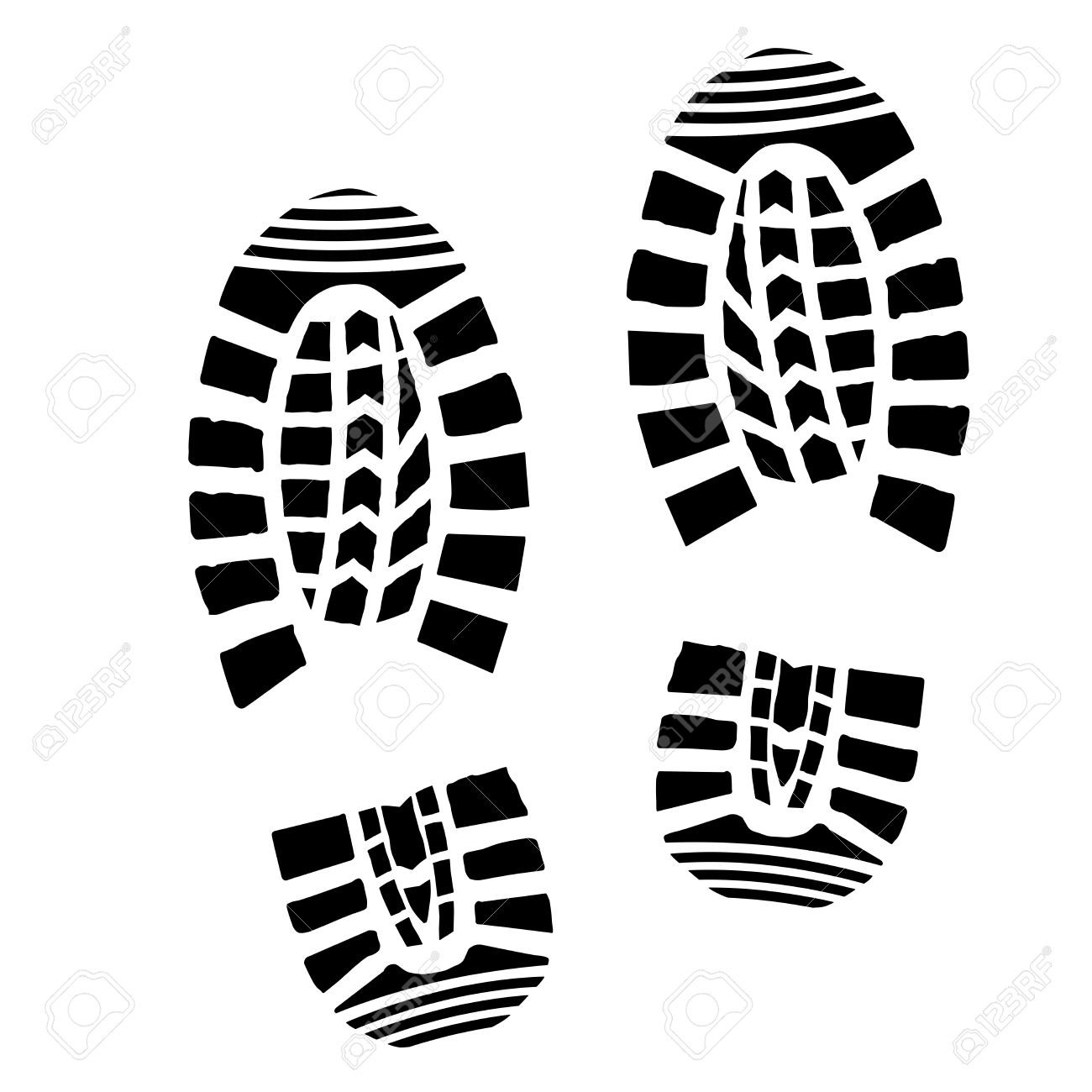 1300x1300 Detailed Illustration Of Simple Shoe Prints Royalty Free Cliparts