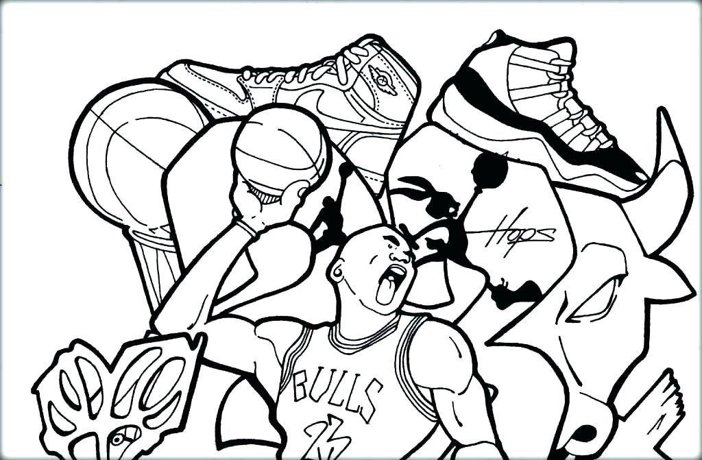 1024x671 Elegant Coloring Page Basketball Print Pages To Shoe Now Color Own