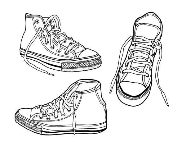 Shoes Design Drawing